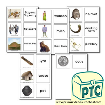 Anglo-Saxon Themed Matching Cards