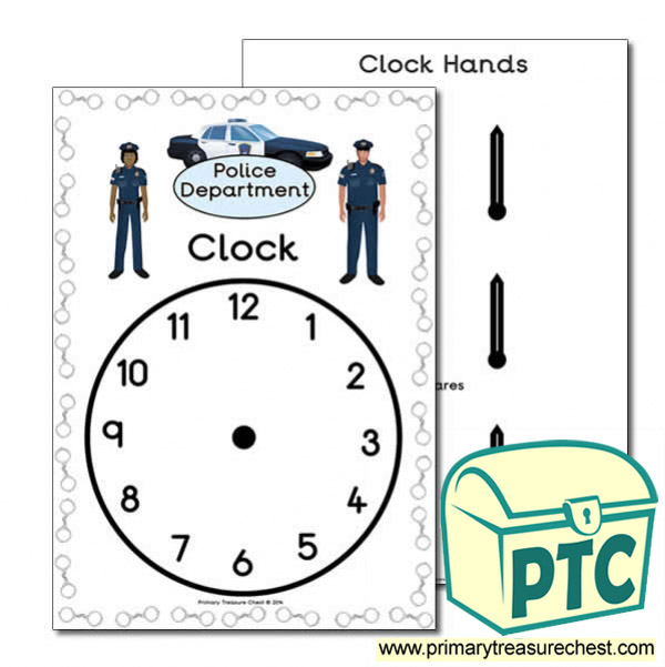 Police Department Role Play Clock