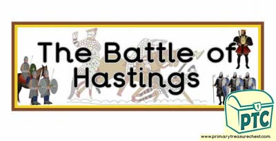 'The Battle of Hastings' Display Heading
