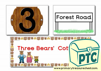 Goldilocks and The Three Bears Signs