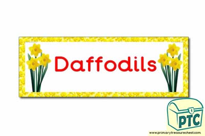 'Daffodils' Display Heading/ Classroom Banner