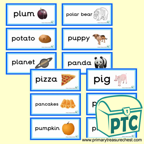 Letter 'p'  Themed Flashcards