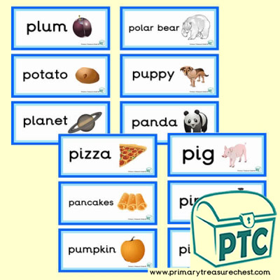 Letter p themed flashcards word mats posters challenges letter p themed flashcards spiritdancerdesigns Gallery