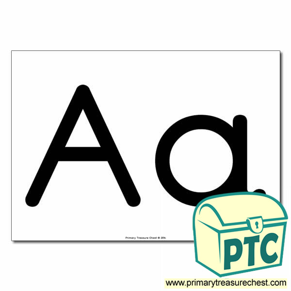 'Aa' Upper and Lowercase Letters A4 poster (No Images)