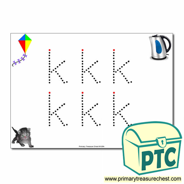 'k' Lowercase Letter Formation Activity - Join the Dots