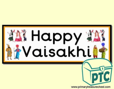 'Happy Vaisakhi' Display Heading/ Classroom Banner