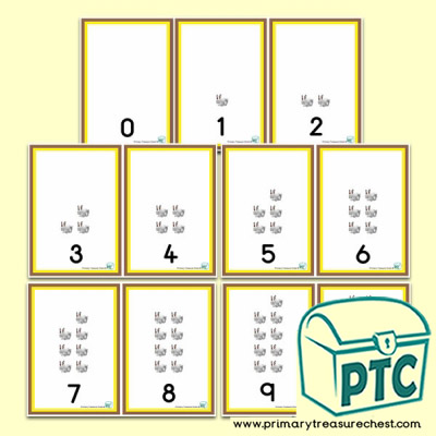 Rabbit Number Shapes 0 to 10 -  Number Line