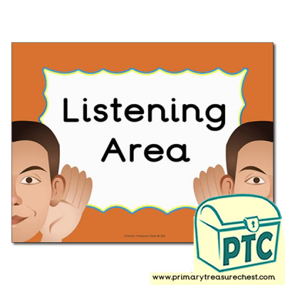 Listening Area Classroom Sign