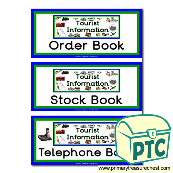 Tourist Information Role Play Book Covers / Labels