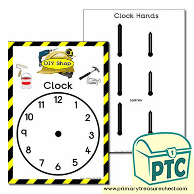 DIY Shop Role Play Clock