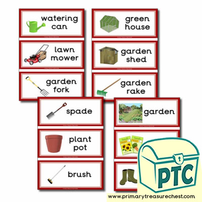 Home Corner Garden Themed Flashcards