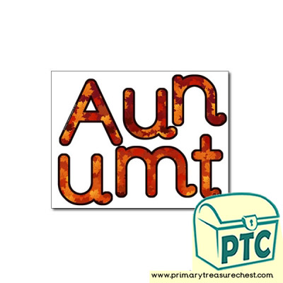 'Autumn' Display Letters