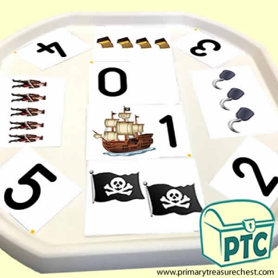 Pirate Themed Tuff Tray Matching Sounds with Pictures