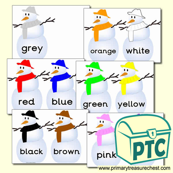 Snowman Themed Colour Word