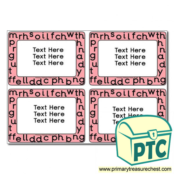 Welsh Alphabet Themed Pupil / Work Book Labels