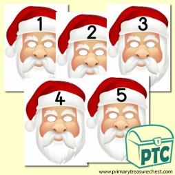 Santa Role Play Number Masks 1-5