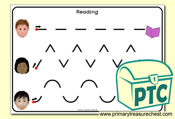 Reading Themed Pre-Writing Activity Sheet