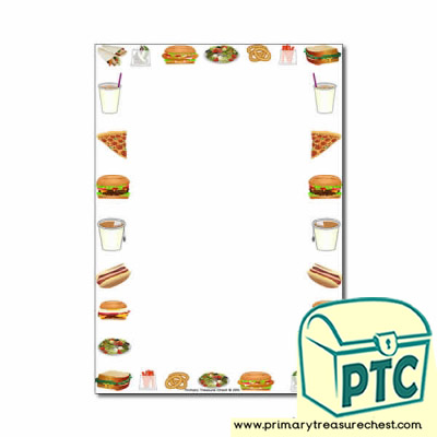 Fast Food Takeaway Themed Page Border/Writing Frame (no lines)