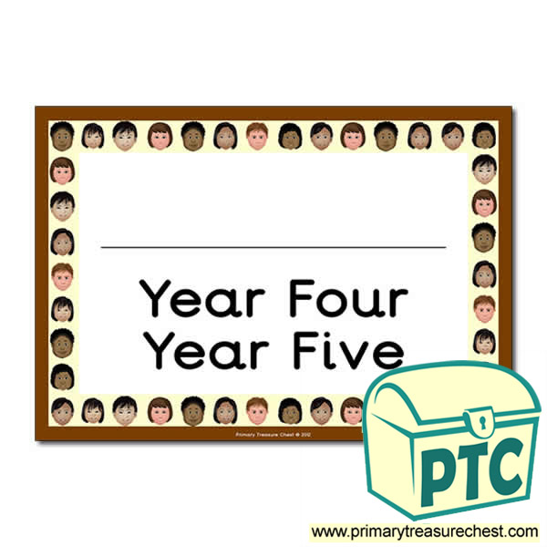 Year Four Year Five Classroom Door Sign