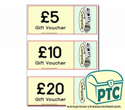 Role Play Campsite Shop Vouchers