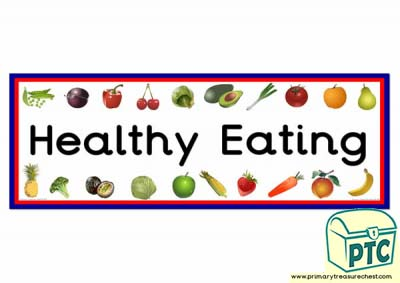 'Healthy Eating' Display Heading/ Classroom Banner