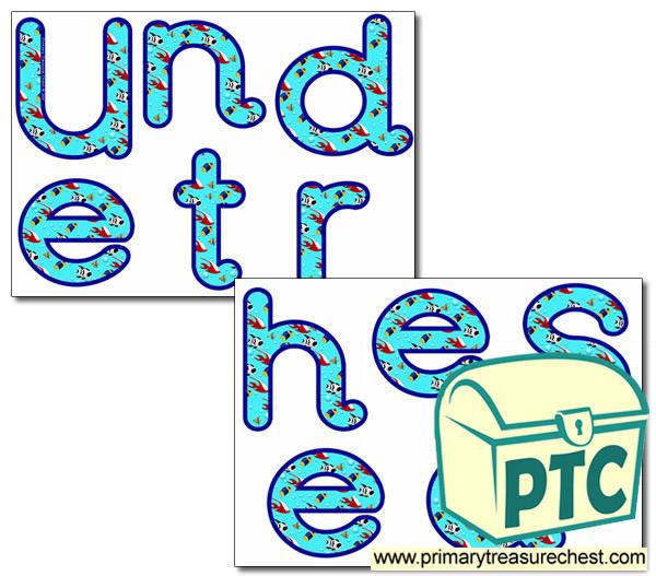 u0026 39 under the sea u0026 39  display letters