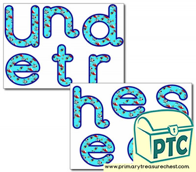 'Under the Sea' Display Letters