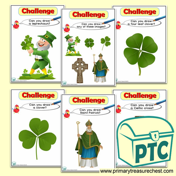 St Patrick's Themed ICT Challenge Cards