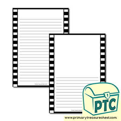 Camera Film Themed Page Border/Writing Frame (narrow lines)
