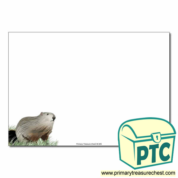 Groundhog Day Themed  Landscape Page Border/Writing Frame (no lines)