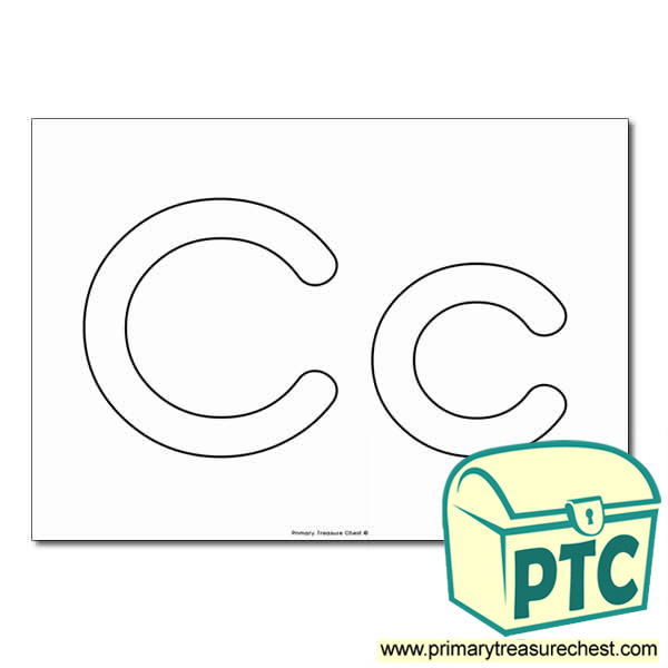 'Cc' Upper and Lowercase Bubble Letters A4 Poster - No Images.