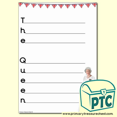 'The Queen' Acrostic Poem