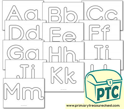Alphabet Playdough Mats (Aa-Mm)