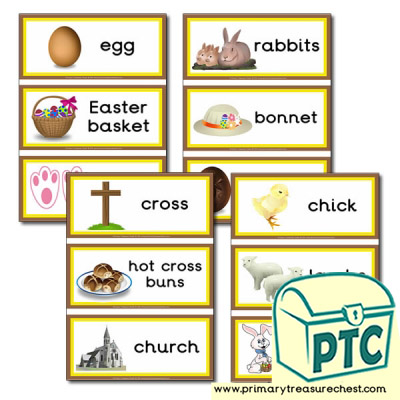 Easter Themed Flashcards Primary Treasure Chest