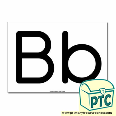 'Bb' Upper and Lowercase Letters A4 poster (No Images)