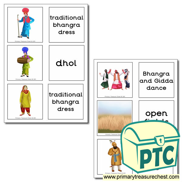 Vaisakhi Matching Cards
