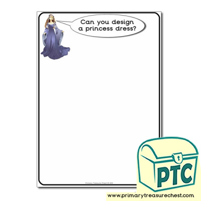 Princess Dress Worksheet