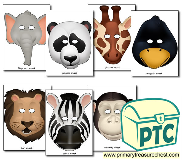 Zoo Animals Role Play Masks