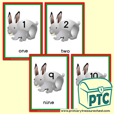 Rabbit Themed Number Line 0-10