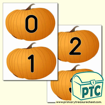 Pumpkin Themed Numbers 0 to 20