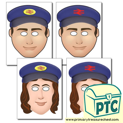Train conductor and Driver Role Play Masks
