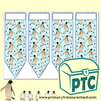 Penguin themed Bookmarks - Penguin Awareness Day Resources