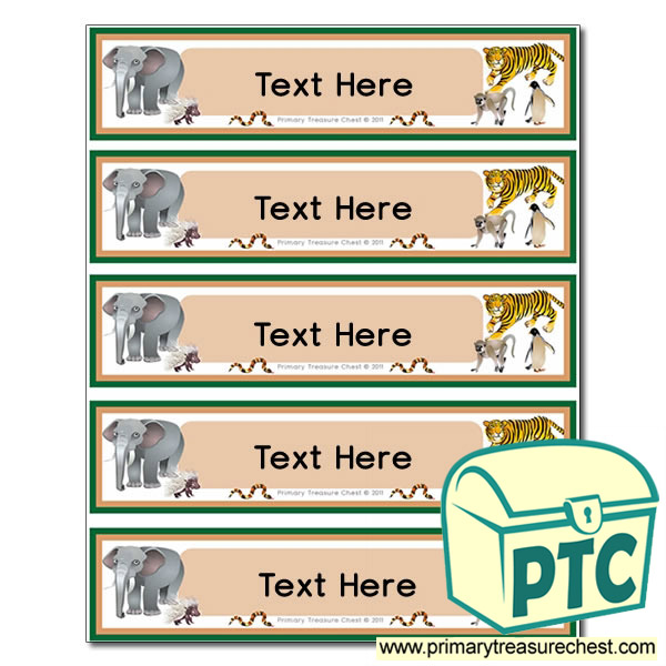 Animal Themed Pupil Drawer Labels (Small)