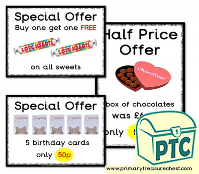 Role Play Newsagents Special Offers (21p-£99)