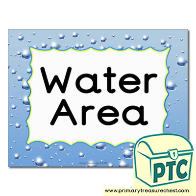 Water area Classroom sign