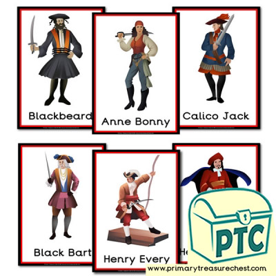 Famous Pirate hemed Posters