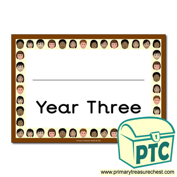 Year Three Classroom Door Sign