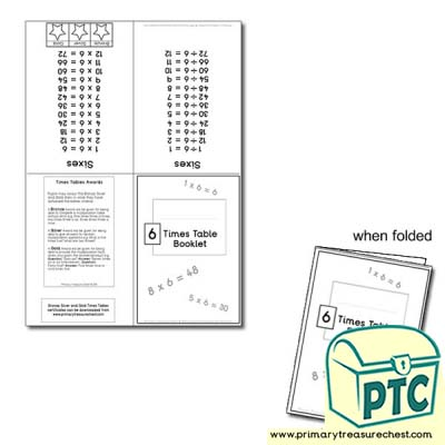 Six Times Table Booklet
