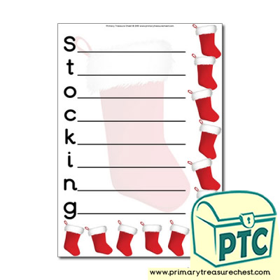 Stocking Themed Acrostic Poem