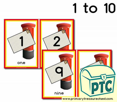 Postbox Number Line 1-10